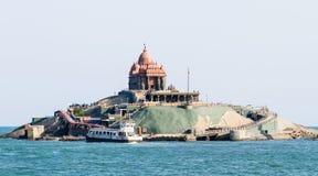 Swami Vivekananda Rock Memorial em Vavathurai, Kanyakumari imagem de stock