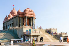 Swami Vivekananda Rock Memorial - a famous tourist monument in V Royalty Free Stock Images