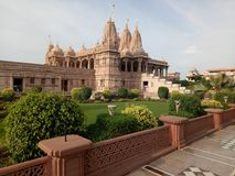 Swaminarayan寺庙 图库摄影