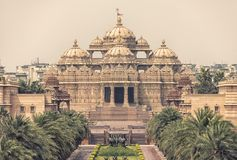 Indhu temple in New Delhi. Swaminarayan Akshardham complex indian temple in New Delhi, India stock image
