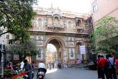 Swaminarayan Mandir主闸;Kalupur;艾哈迈达巴德。 免版税库存照片