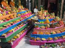 Swaminarayan temple more food items Royalty Free Stock Images