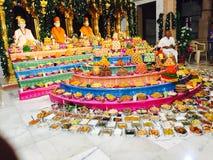 Swaminatayan tempel Himatnagar Arkivfoto
