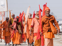 Swamis at the Kumbha Mela Royalty Free Stock Images