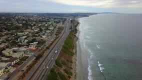 SWAMIS resaca y escenas Encinitas California de la playa metrajes