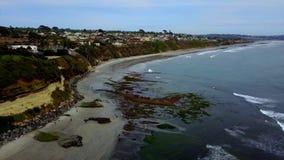 SWAMIS ressaca e cenas Encinitas Califórnia da praia filme