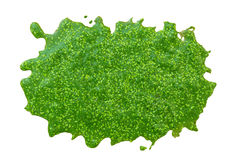 Swamp algae on white background Stock Photo
