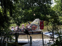 A swamp boat tour of the Bayous outside of New Orleans in Louisiana USA Royalty Free Stock Photography