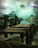 The swamp Bridge royalty free stock photos