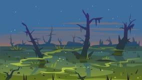 Free Swamp Dusk Landscape Background Royalty Free Stock Image - 144587556