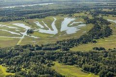 Swamp Kopački Rit  from the air Stock Photos