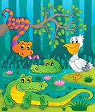 Swamp theme image 1. Vector illustration Stock Images
