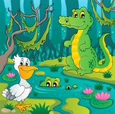 Swamp theme image 3. Vector illustration Stock Image
