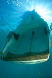 Swamped Dinghy Stock Photography