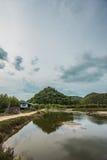 Swamps  mountains sky Stock Photo
