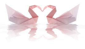 Swams de Origami Imagens de Stock Royalty Free