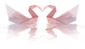 Swams di Origami Immagini Stock Libere da Diritti