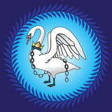 Swan on blue Stock Image