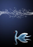The swan on blue background Royalty Free Stock Photo
