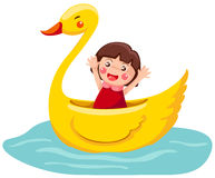 Swan boat Royalty Free Stock Photography