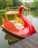 Swan boat Stock Photography