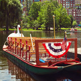 Swan boats at the Boston Public Garden, Boston, Mass. Royalty Free Stock Photos