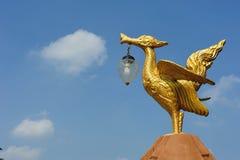Swan and Buddhist Stock Image