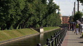 The Swan canal in St. Petersburg. 4K. stock footage