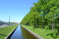 Swan Canal and Summer Gardens in St.Petersburg Stock Photography