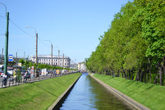 Swan Canal and Summer Gardens in St.Petersburg Stock Photos