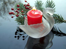Swan candlestick Royalty Free Stock Photo