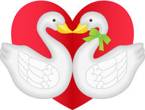 Swan couple in love Stock Photo