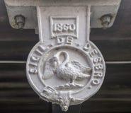 Swan Emblem on Marlow Bridge Stock Photos