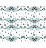 Swan family pattern. A seamless pattern design illustrated with a group of swans family swimming around, decorated with fish and water wave, great for background Royalty Free Stock Photography