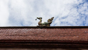 Swan gable apex with sky Royalty Free Stock Photography
