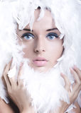 Swan girl Stock Photography