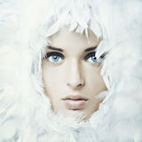Swan girl Royalty Free Stock Photography