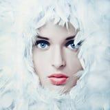 Swan girl Stock Photo