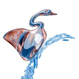 Swan glass and drop Stock Photography