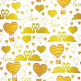 Vector pattern swans in love for Valentines day, wedding, romantic events, and love vector illustration