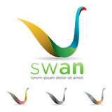 Swan Icon Royalty Free Stock Images