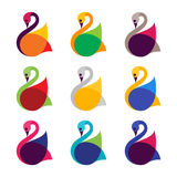 Swan icon. Vector illustration for swan icon Royalty Free Stock Photos