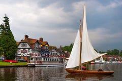 Swan Inn Sail Boat 0320 Stock Photography
