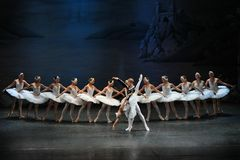 Swan Lake Ballet. By Theatre Russian Ballet, St.Petersburg, Russia. 30 August, 2012 Royalty Free Stock Image