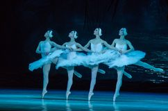 SWAN LAKE ballet. DNIPRO, UKRAINE - MARCH 17, 2018: SWAN LAKE ballet performed by members of the Dnipro State Opera and Ballet Theatre stock images