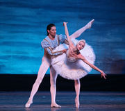 Swan Lake ballet performed by Russian Royal Ballet. BEIJING - DECEMBER 28: Russian Royal Ballet dancers perform Swan Lake ballet at Beijing Exhibition Theatre on Stock Photography
