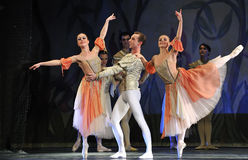 Swan lake ballet performed by russian royal ballet Stock Image