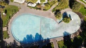Swan lake from drone, Yerevan Armenia stock image
