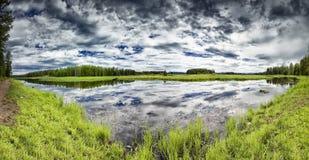 Swan Lake Panorama Royalty Free Stock Image