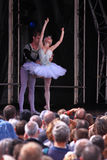 Swan Lake Performed Outdoors Stock Image